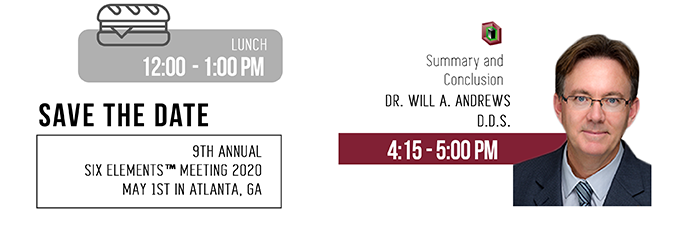 Save the Date: 9th Annual Six Elements Meeting -  May 1, 2020 in Atlanta, GA
